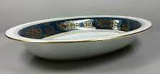 WEDGWOOD COLUMBIA BLUE AND GOLD R4509 OVAL OPEN SERVING DISH