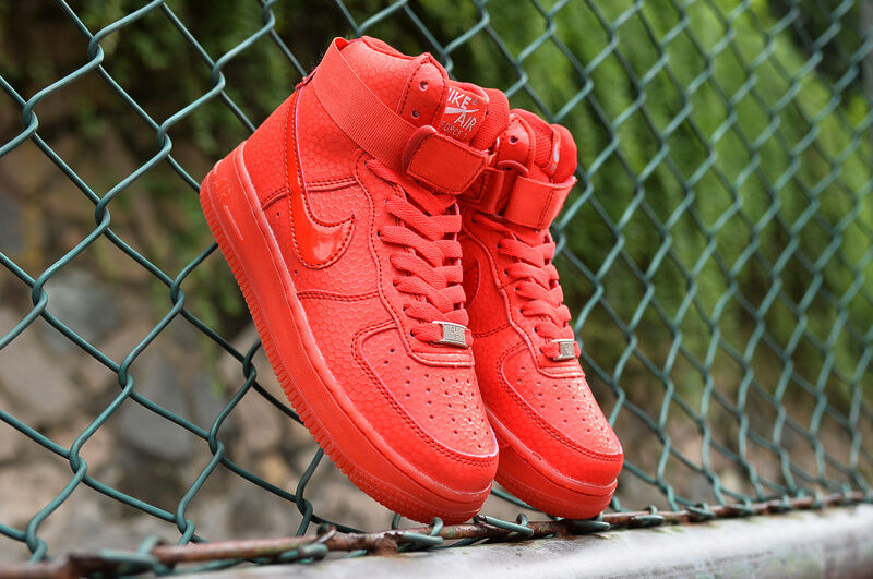 "Nike Air Force 1 1 1 Hi Premium ""Hot Lava"" Womens shoes Size 7.5 654440-800 ddb08d"