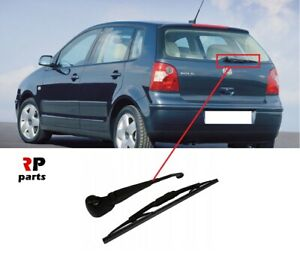 Front Rear Wiper Blades for Volkswagen Polo 9N Hatchback 1.9 TDI 2001-2009