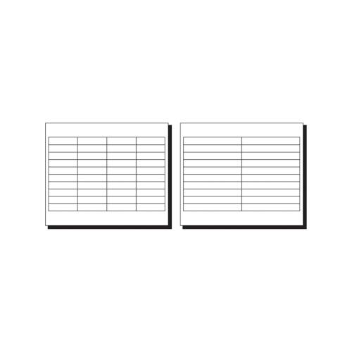 2 Inches Avery WorkSaver Tab Inserts 100 Inserts White 11136