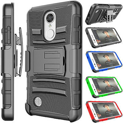 Cases, Covers & Skins For Lg K20 Plus/k10 2017/harmony/grace/mp260 Locking Holster Hybrid Phone Case Cell Phones & Accessories