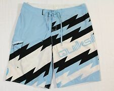 QUIKSILVER 36 MEN'S BOARDSHORT LIGHT BLUE NEO FLY 23""