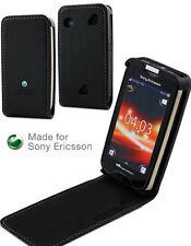 Etui clapet Slim noir pour Sony Ericsson Mix Walkman Made for Sony Ericsson