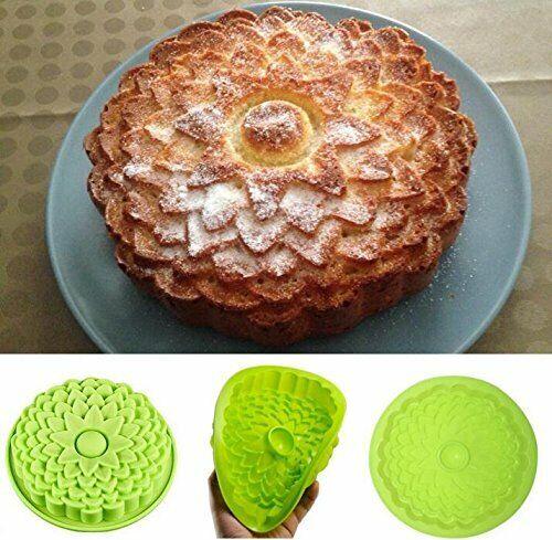 Flower Chrysanthemum Shape Silicone Non-Stick Baking Cake Bakeware Pie Flan Mold