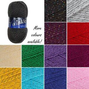James-C-Brett-Twinkle-DK-Acrylic-Wool-Yarn-Knitting-Crochet-Craft-100g-Ball