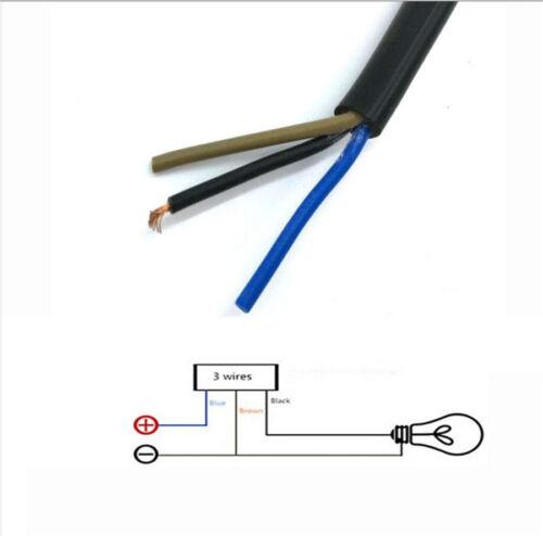 "Aluminum Alloy 22mm 7//8/""Motorcycle Handlebar Switch w// Indicator Light Self-Lock"