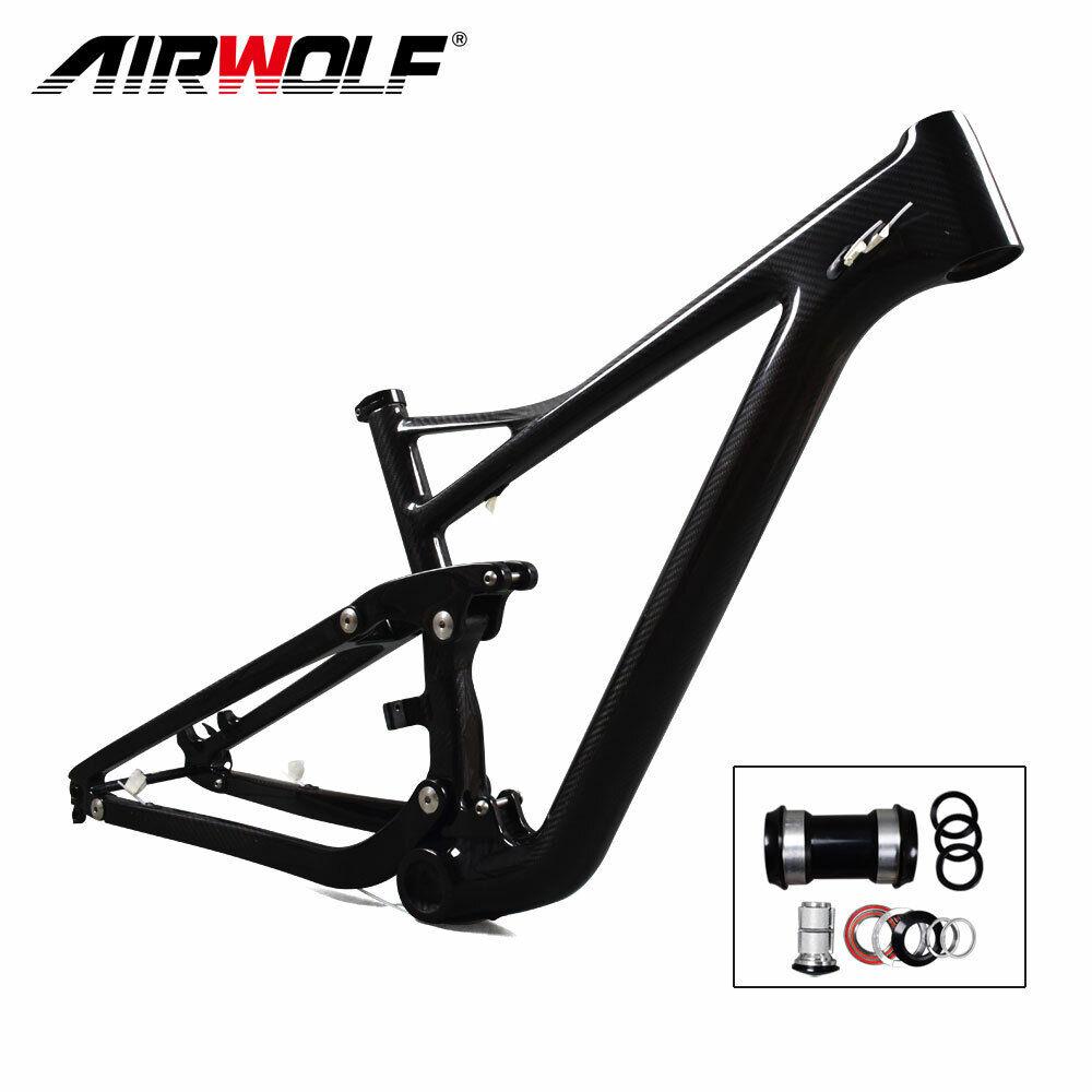 29ER 15 Glossy Carbon Suspension Frame,3K Twill mtb carbon frame max 2.4 tires