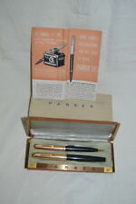 Vintage 16K Gold Filled Parker 51 Fountain Pen Mechanical Pencil Set 14K Trim