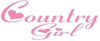 country girl girls vinyl car sticker funny decal pink window hearts horses cow