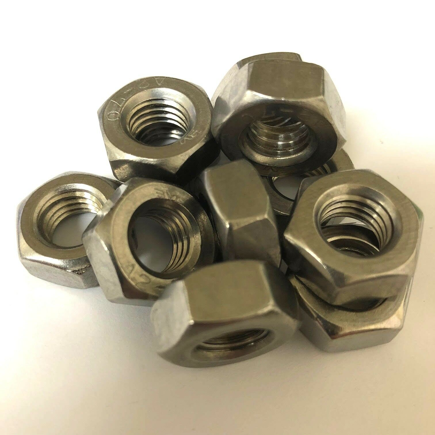 1 4  UNC FULL NUT, A2 STAINLESS STEEL, IMPERIAL FINE HEX NUTS