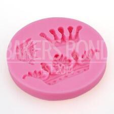 3 Crown Tiara Princess Romantic Cake Topper Fondant Sugarcraft Silicone Mould