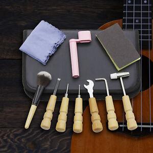 Pro-Guitar-Care-Tech-Guitar-Repair-Maintenance-Tools-Full-Kit-amp-Bag-10PCS-Set
