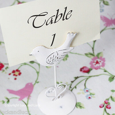 Bird Photo Table Name / Number Holder Shabby Chic Vintage Style Clip Wedding