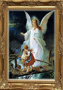 Magnet Spiritual Photo Magnet Guardian Angel Children Crossing