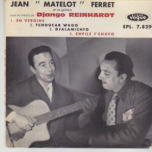 JEAN-MATELOT-FERRET-EP-joue-les-inedits-DJANGO-REINHARDT-Vogue-JAZZ-MANOUCHE