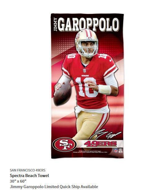 Jimmy Garoppolo San Francisco 49 Ers NFL Football Telo da Spiaggia, Bagno