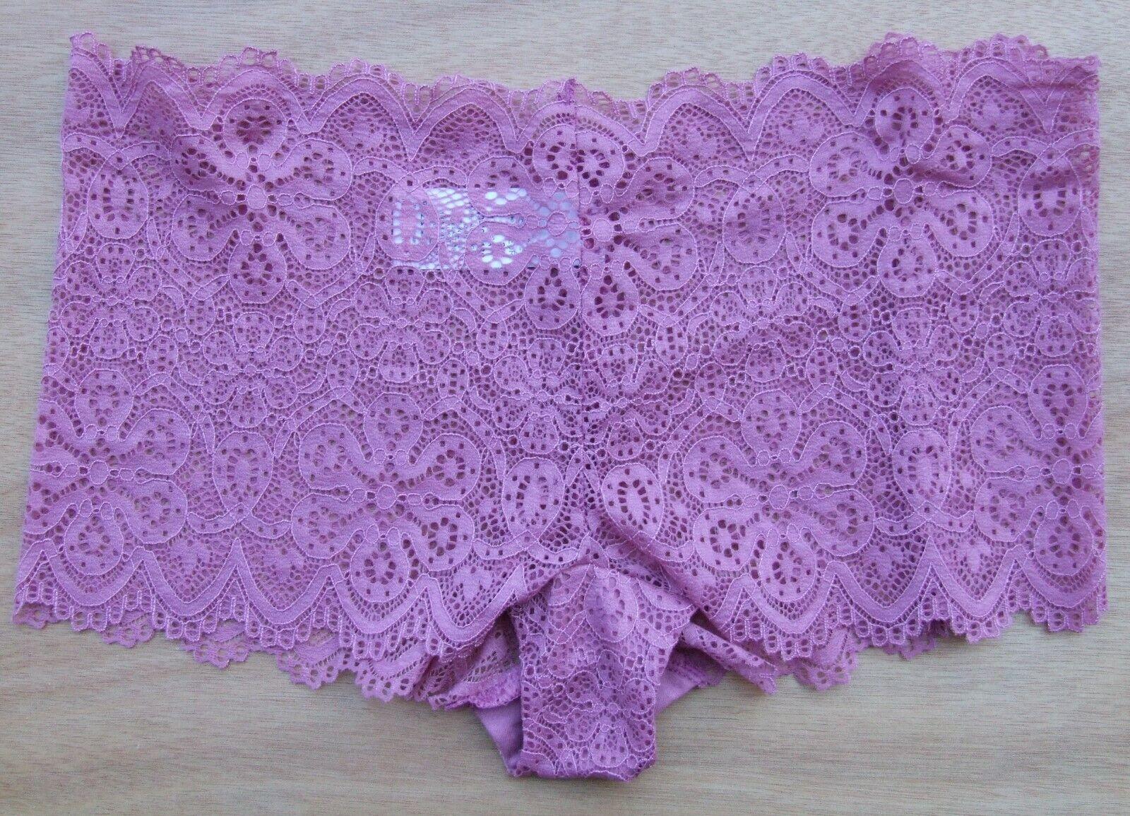NEXT Größe 14 Unsichtbar Blumen Spitze Niedrig Sitzende Unterhosen Shorts Pink
