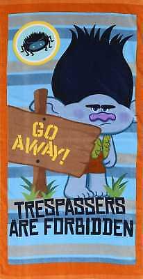 New TROLLS TRESPASSERS Beach Bath Towel Boys Kids Official