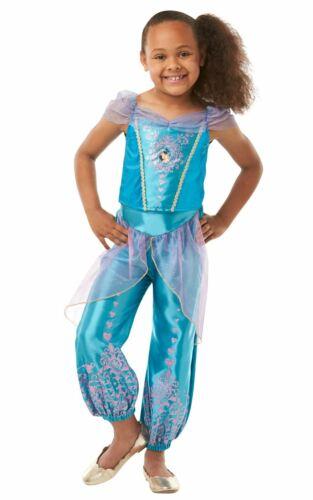 Filles Jasmine Costume Kids Disney Princess Déguisement Conte De Fées sous licence Dressu