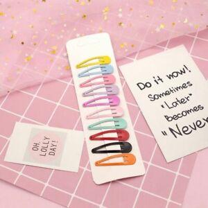 10PCS-New-Cartoon-Metal-Candy-Color-Girls-Hairpins-Hair-Clip-Kids-Headwear-Clips