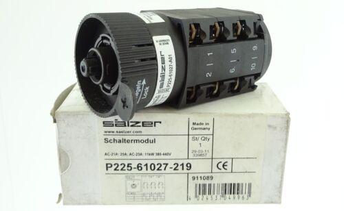 SÄLZER P225-61027-219 Schaltermodul Umschalter 25A 11kW 380-440V 3-polig UNUSED