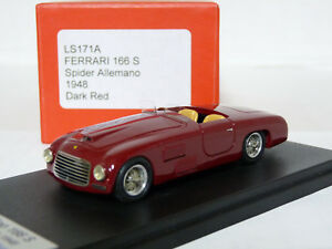 Looksmart-LS171A-1-43-1948-Ferrari-166S-Spider-Allemano-Handmade-Resin-Model-Car