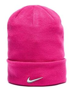Nike Swoosh Beanie Hat - Pink - Size Youth - New w Tags - Quality ... ee2bad2a744