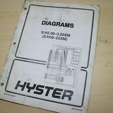 Hyster Forklift Electrical Schematic Wiring Diagrams Service Shop Manual Repair