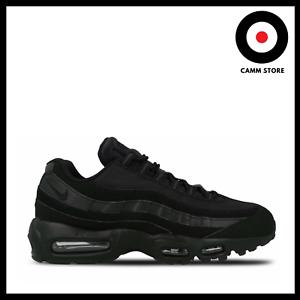 Dettagli su Nike Air Max 95 total black Scarpe Uomo Donna Nero Sneakers 609048 092