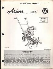 ARIENS JET ROTARY TILLER SER # 23L-12511 & UP  PARTS MANUAL P/N STJ-66 (R)(170)