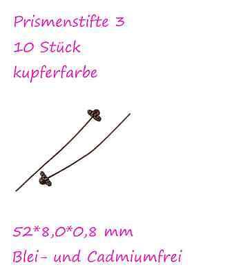Headpins Pins Prismenstifte Stifte Pins Kopfstifte Stift für Ohrhänger