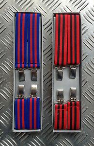 Retro-Vintage-Unisex-Clip-On-Elastic-Braces-Suspenders-Adjustable-NEW-2-Pairs