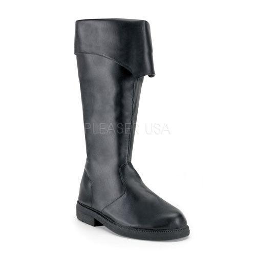 Black Mens Pirate Medieval Knight Renaissance Ren Fair Costume Boots Shoes 9 10
