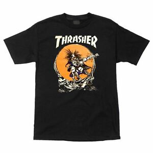Thrasher-Pushead-SKATE-OUTLAW-Skateboard-Shirt-BLACK-MEDIUM