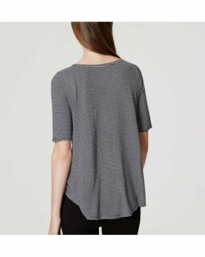 NWT Ann Taylor LOFT Striped swing tee Black and Whisper White XSP SP Petite top