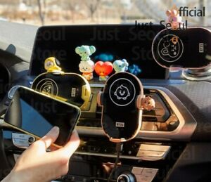 Official BTS BT21 Wireless Cell Phone Car Charger Mount +Freebie +Free Tracking