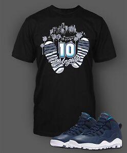 be64004db16c Tee Shirt to Match Air Jordan 10 London Shoe Men Short Sleeve Pro ...