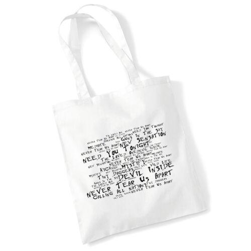 Art Studio Tote Bag INXS Lyrics Print Album Music Poster Gym Beach Shopper Gift