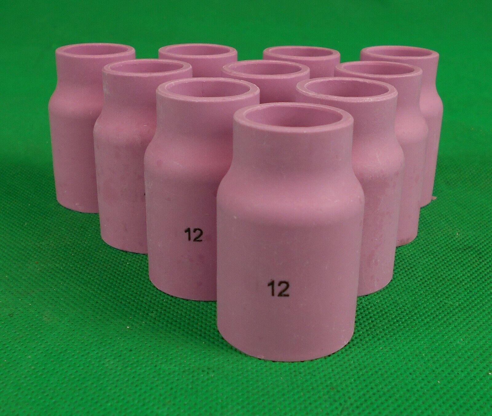 "53N87 #12 Large Gas Lens Ceramic Cup 3//4/"" Alumina Nozzle WP17 WP18 WP26 QTY 10"