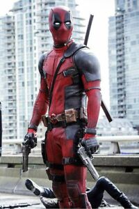 Details About Ryan Reynolds Deadpool 2 Movie Motorcycle Leather Suit With Full Accessories