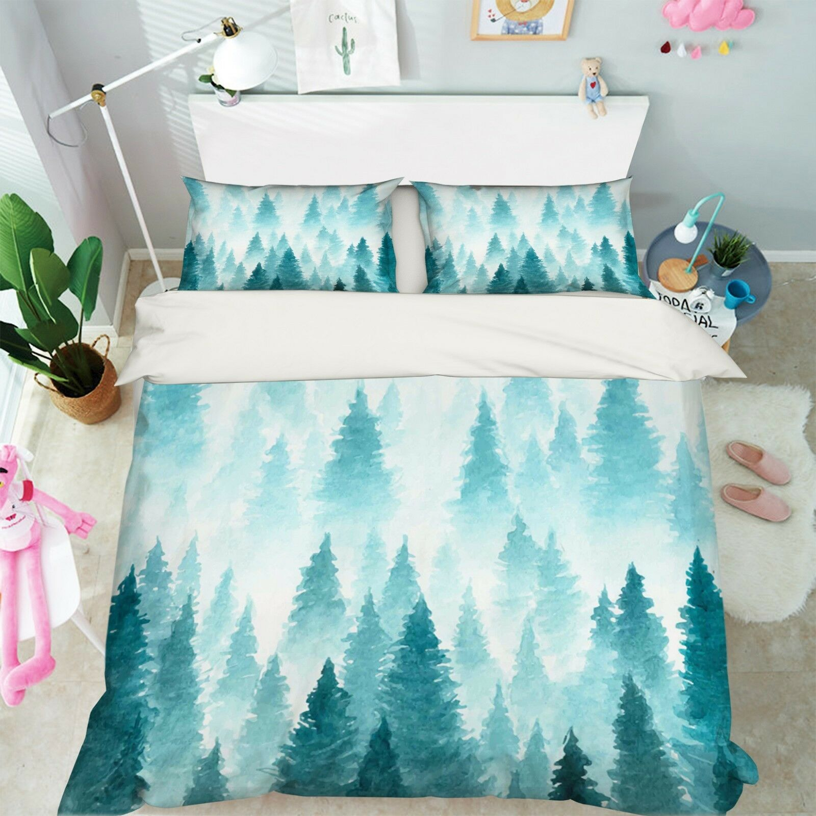 3D Painted Woods 798 Bed Pillowcases Quilt Duvet Cover Set Single Queen King CA