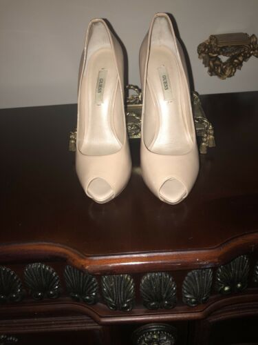 Guess by Marciano Peep Toe Platforms 7