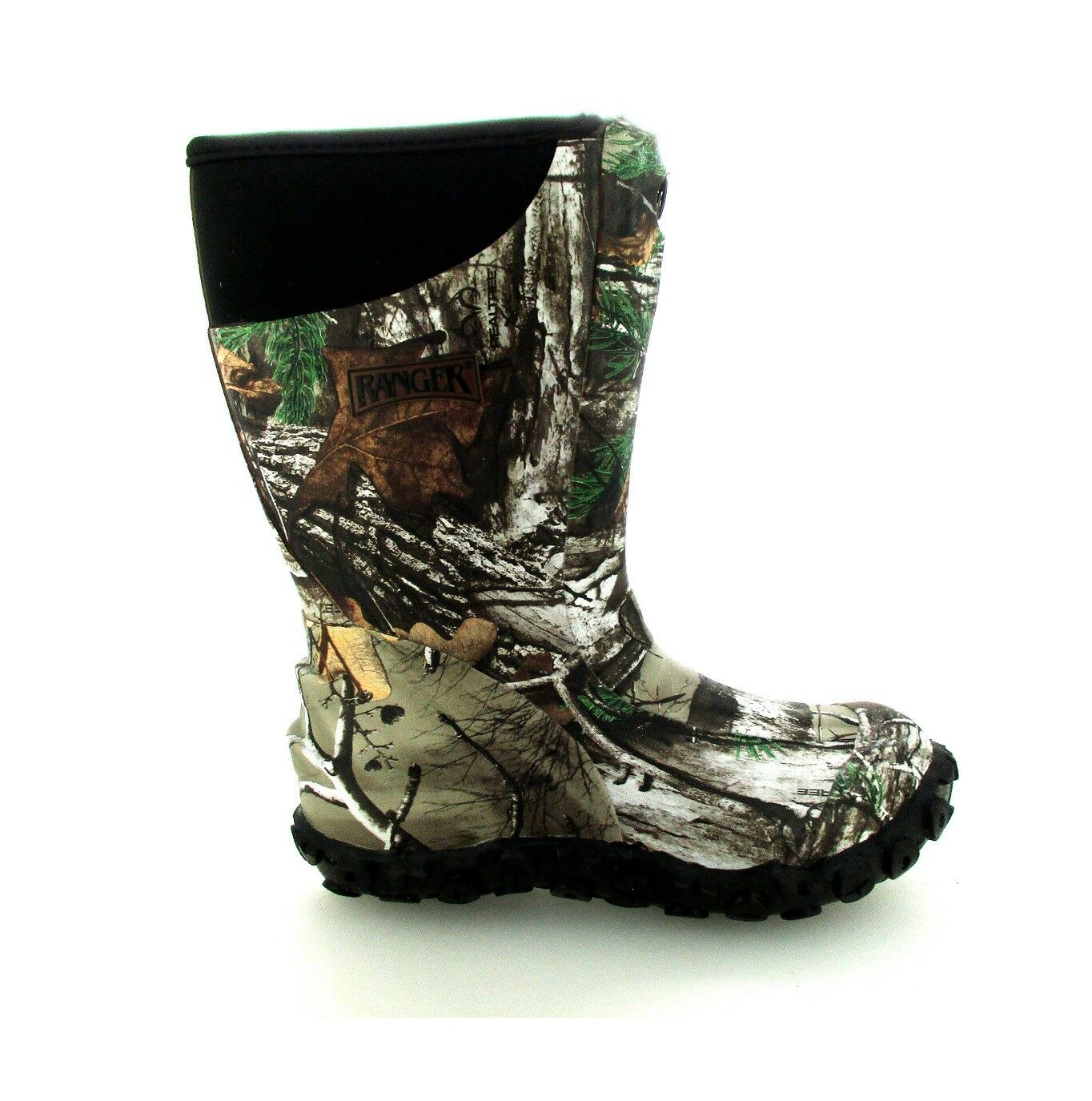 Ranger Pike Zip Kid's Realtree AP 100% Waterproof Boots Size 1 Brand New In Box