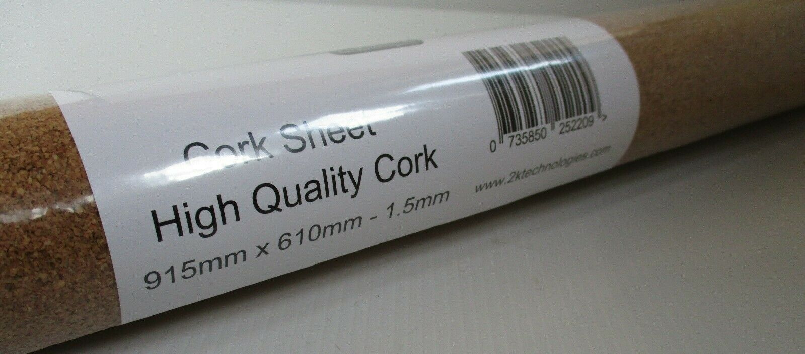 2KCork - Bulk Lot 8 x Rolls 1.5mm x 915mm x 610mm Fine High Quality Cork Sheet
