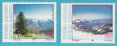 Konstruktiv Makedonien Aus 1999 ** Postfrisch Minr Und Nationalpark Die Neueste Mode 162-163 Europa Natur