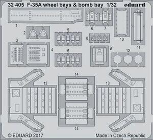 Eduard-1-32-Lockheed-Martin-F-35A-Lightning-II-Wheel-Bays-amp-Bomb-Bay-32405