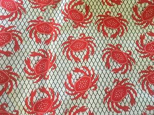 7-yards-CATCH-THE-CRAB-Timeless-Treasures-Cotton-Fabric