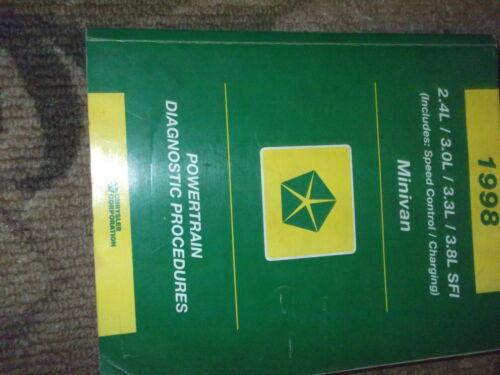 1998 CHRYSLER Town /& Country Powertrain Diagnostic Proedure Manual OEM