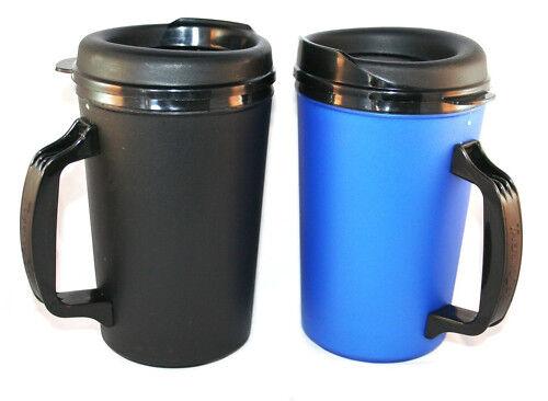 2 Foam Insulated 20 oz. Thermo Serv Travel Coffee Mugs