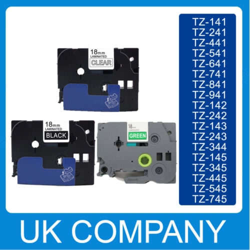 Great Quality Compatible For Brother P-Touch Tze Label Tape 18mm x 8m